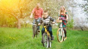 Tre cyklar för stadscykling